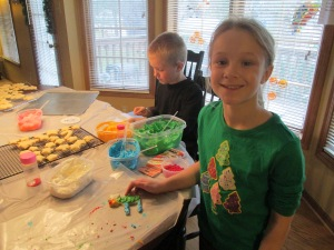 Here is Grace making cookies with her cousin. Nothing much to do with the post except it's Christmasy.