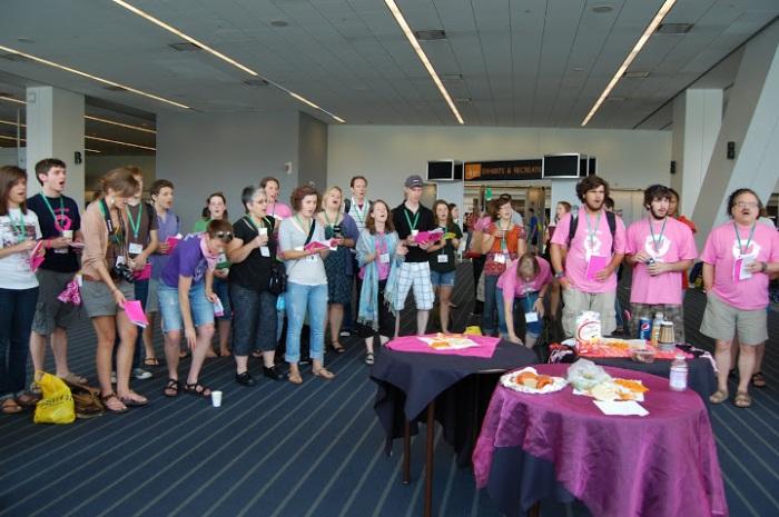 Pink Menno hymn-sing; Pittsburgh, 2011. Photo credit: pinkmenno.org