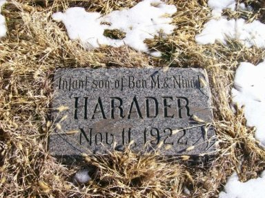 Harader tombstone