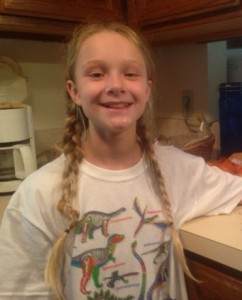 I am the one who braided her hair--but not during church.