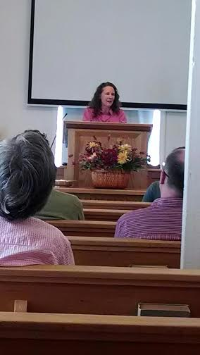 Joanna preaching